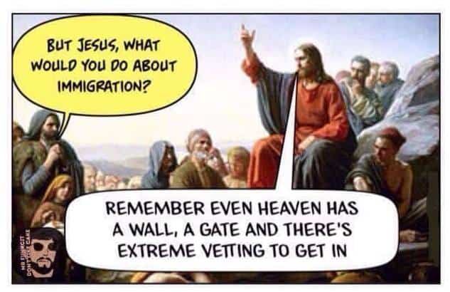 Heaven has a wall, a gate, and extreme vetting