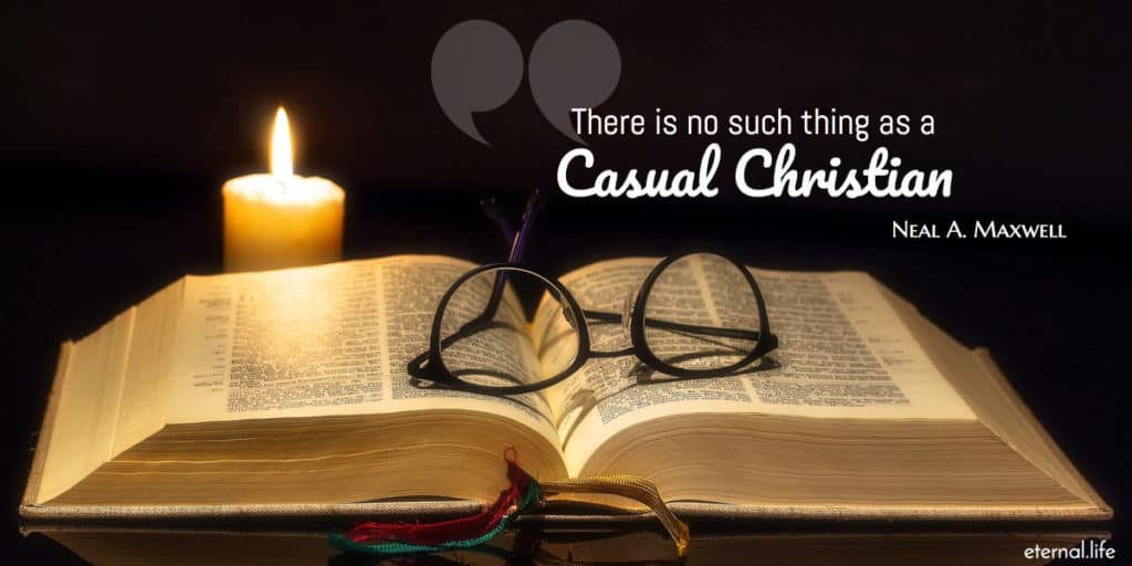 There is no such thing as a casual christian.